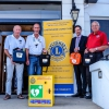 Lions present Defibrillator to the Langham Hotel