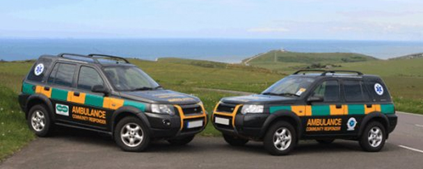 Eastbourne First responders cars